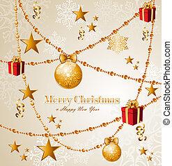 elementos, eps10, feliz natal, vetorial, fundo, file.