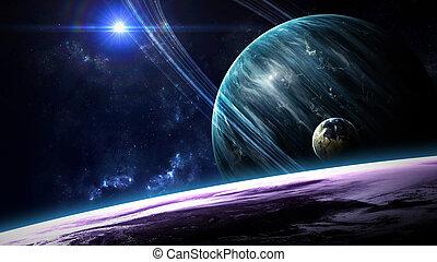 elementos, exterior, belleza, amueblado, universo, actuación...