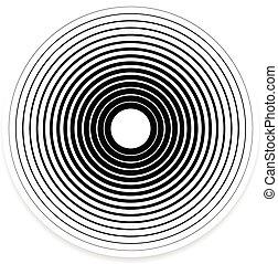 elementos, Extracto, patrón, /, fondos, concéntrico, círculo...