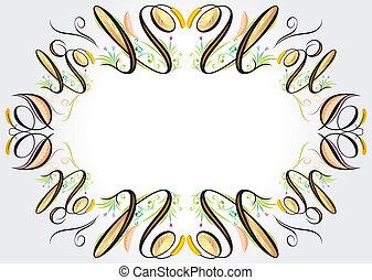 elementos florais, curva