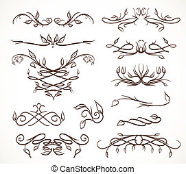 elementos florais, desenho
