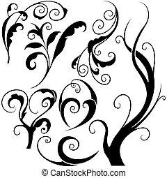 elementos florais, m