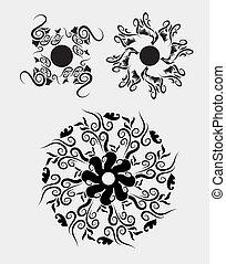 elementos florales, 2