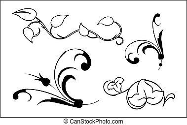 elementos florales
