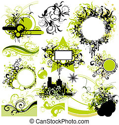 elementos florales, diseño