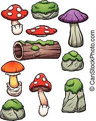 elementos, floresta