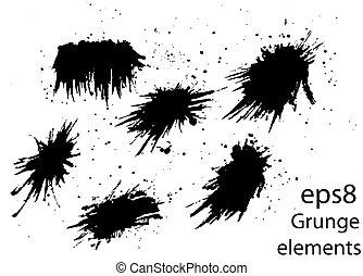 elementos, grunge