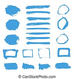 elementos, grunge, set., textura, pintura aquarela, bandeiras, tinta, quadro