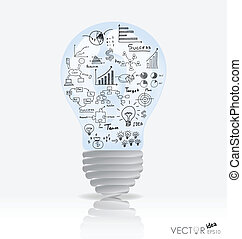 elementos, illustration., luz, graph., vector, infographics...
