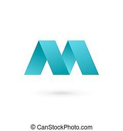 elementos, letra m, diseño, plantilla, logotipo, icono