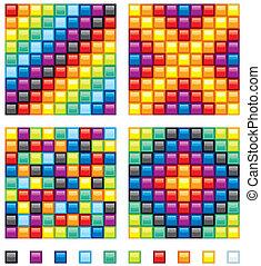elementos, mosaico