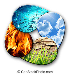 elementos, natureza, quatro