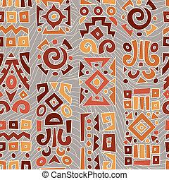 elementos, ornamento, fundo, africano