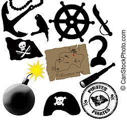 elementos, piratas