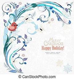 elementos, romanticos, m, convite, floral, seu, cartão, design.