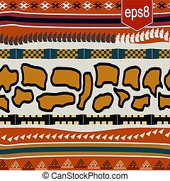 elementos, seamless, textura, africano