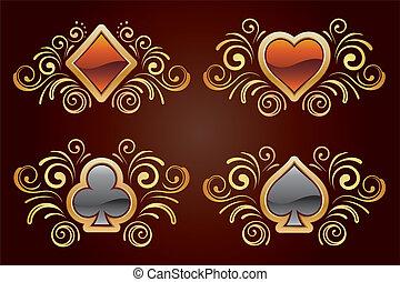 elementos, tarjeta, diseño