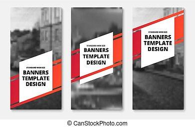 elementos, vertical, text., diagonal, vetorial, listra, modelo, bandeiras, branco vermelho
