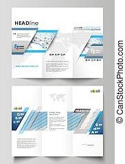 elements., 색, 떼어내다, infographic, 디자인, 파랑, 상징, 스타일, 다른, 쉬운, 그림, templates., 사업, editable, layout., 은 일렬로 세운다, 배경, 소책자, 최소한 요구의 용인으로 만족하는 사람, 도표, tri-fold, 벡터