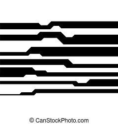 elements., abstrakcyjny, wektor, tło, geometryczny, technologia