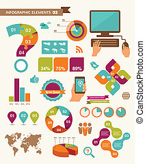 Elements and icons of infographics - Elements and icons of ...