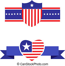 Elements and icons related to American patriotism - 2
