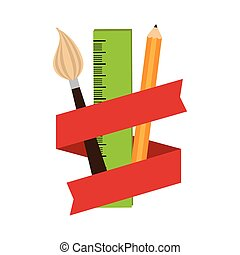 elements art school with ribbon