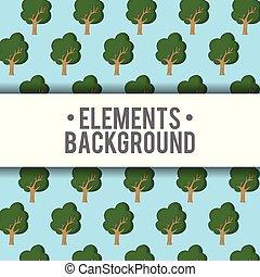 Elements background design