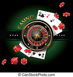 elements casino, roulette as a screen saver or logo