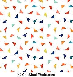 elements., coloridos, padrão, seamless, geomã©´ricas, triângulos