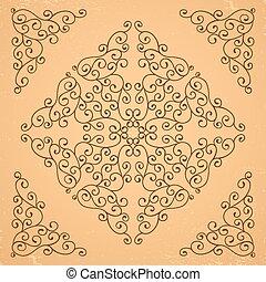 elements., decoratief, floral