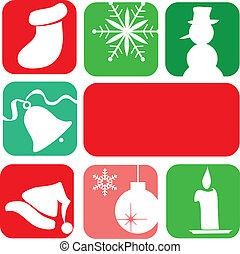 elements., design-2, クリスマスカード, テンプレート