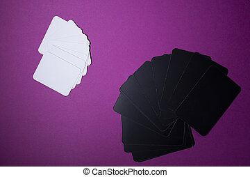 Elements for board games - cards. On pink background. Isolated. Copy space
