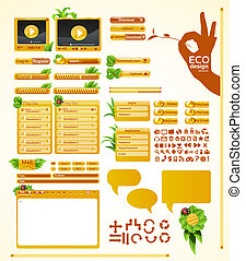Elements for eco friendly web desig