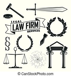 elements for lawyer logo design