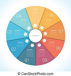 Elements For Template infographic nine position