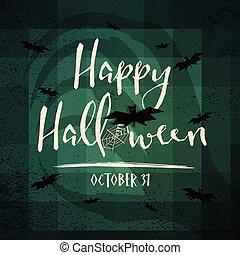 elements., halloween, araignés, décoration, chauves-souris, toile, festival, concept., arrière-plan., vacances, heureux, horreur, theme., illustration, main, sorcière, ombre, jour, carte, fantôme, salutation, vecteur