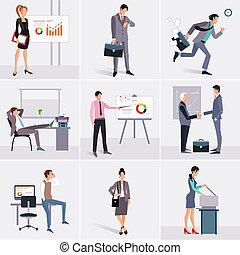 elements., infographics, negócio, processo