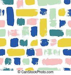 elements., kleurrijke, geverfde, pattern., seamless, textuur, hand, watercolor, vector, points., getrokken