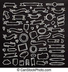 elements., main, dessiné, croquis