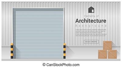 Elements of architecture , factory door background 1
