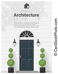 Elements of architecture , front door background 16 -...