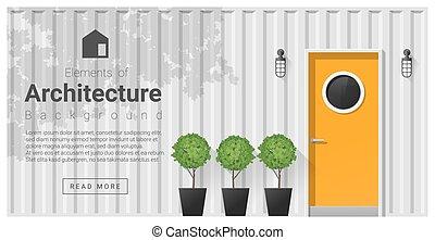 Elements of architecture , front door background 17