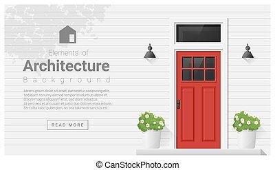 Elements of architecture , front door background 2