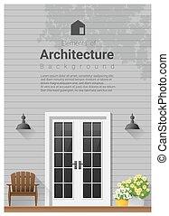 Elements of architecture , front door background 26