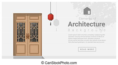 Elements of architecture , front door background 5