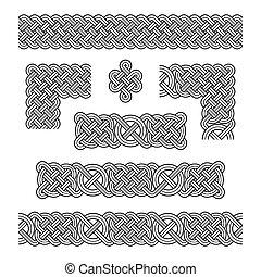 Elements of Celtic frames.
