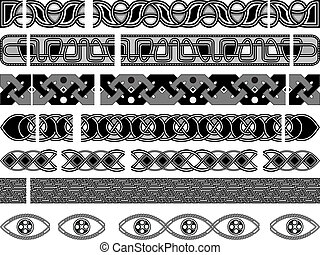 Elements of design with medieval celtic an ornament in a vector