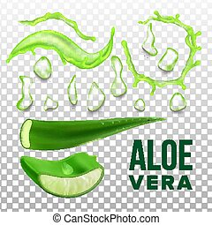 Elements Of Eco Healthcare Aloe Vera Set Vector