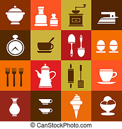 Elements of household - Vector elements of household items...